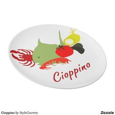 Cioppino Melamine Plate