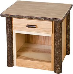 Our high-quality case goods offer a visually appealing combination of hickory logs and solid hickory wood.  The craftsmanship is evident in details like hickory log drawer pulls, dovetail drawers on roller bearing glides, and aromatic, red cedar lined top drawers.  All of the case goods are ideal for storing your bedroom or other household items in a beautiful wooden piece.