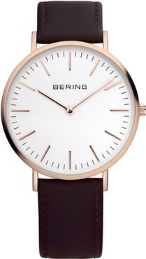 Bering Rose Gold Black Leather Mens Watch 13738-564 See more from BERING at:- http://www.watcho.co.uk/watches/bering.html