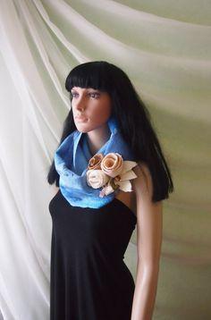 Felted snood-Felted Art Nunofelting scarf hood by YuliasFeltworld