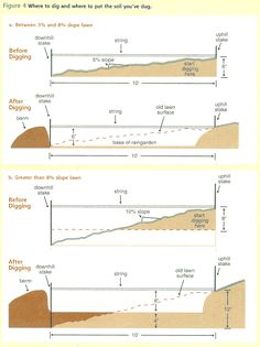 Do we make a slope or a retaining wall? That is the question...