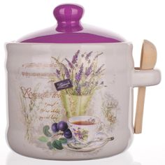 Keramická dóza se lžičkou Lavender, BANQUET - decoDoma