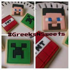 Minecraft cookies... GREEKSNSWEETS by GreeksNSweets on Etsy, $39.00