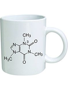 Funny Mug - Caffeine Molecule, Chemistry - 11 OZ Coffee Mugs - Funny Inspirational and sarcasm - By A Mug To Keep TM ❤ Fred And Levine