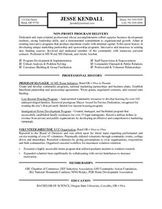 Non Profit ExecutivePage  Non Profit Resume Samples