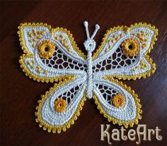 Бабочки для Ирины. Обсуждение на LiveInternet - Российский Сервис Онлайн-Дневников Freeform Crochet, Tunisian Crochet, Crochet Motif, Crochet Lace, Crochet Stitches, Irish Crochet Patterns, Crochet Chart, Crochet Designs, Crochet Butterfly