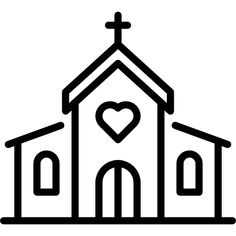 Church free vector icon designed by Freepik Art Drawings For Kids, Easy Drawings, Vector Icons, Vector Free, Church Icon, 40th Birthday Cards, Doodle Icon, Cute Coloring Pages, House Drawing