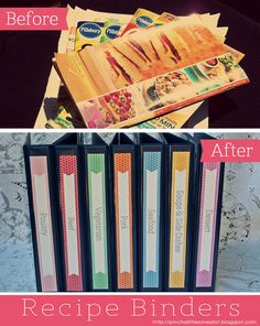 Pinch A Little Save-A-Lot: Recipe Binders & Magnetic Menu Planner - Part 1