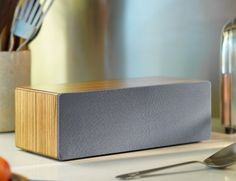 Access all of your music wirelessly with the Audioengine B2 #BluetoothSpeaker. Available in walnut, black ash, and zebrawood, this powerful speaker uses high fidelity Bluetooth with aptX transmission to bring your music to life.