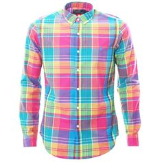 Home Shirts Ralph Lauren Slim Fit Bright Madras Plaid Shirt In