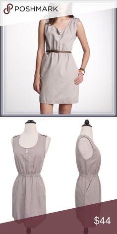 "J. Crew Castaway Dress ➖NWOT ➖BRAND: J. Crew ➖SIZE: 00 (runs a bit large- see measurements)     ➖BUST: 15.75""    ➖WAIST: 12.25 (stretchable)    ➖HIPS: 17"" ➖STYLE: J. Crew Beige Castaway linen dress is a extremely versatile dress with 2 side pockets. ❌NO TRADE J. Crew Dresses"