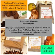 Traditional Tallow Soap-Natural Scented Bath Soaps 100% Natural & Nourishing (R38-R50)  @zghnatural   #zghnatural #pureprimal #traditional #tallowsoap #natural #bathsoap #bathtime #bath #soap #nourish #skin #skinfood #hypoallergenic