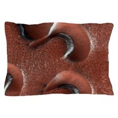Mars Gullies Pillow Case - Rest your head on these Mars Gullies!