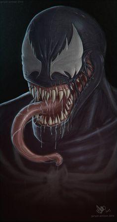 #Venom #Fan #Art. (Venom) By: GaryckArntzen. (THE * 5 * STÅR * ÅWARD * OF: * AW YEAH, IT'S MAJOR ÅWESOMENESS!!!™)[THANK Ü 4 PINNING!!!<·><]<©>ÅÅÅ+(OB4E)