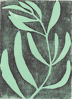 Original modern woodblock print poster of a plant. Minimalistic art print poster for your home. Linocut Prints, Poster Prints, Art Prints, Block Prints, Riso Print, Stencil, Botanical Illustration, Illustration Art, Wood Engraving