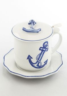 Sail the High Teas Mug Set. Smoothly sail into every day with this nautical mug! #multi #modcloth