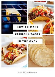 Easy, oven-baked homemade crunchy taco shells. It's never been easier to make the best tacos ever! Baked Taco Shells, Homemade Taco Shells, Homemade Tacos, Healthy Taco Recipes, Real Food Recipes, Skinny Recipes, Mexican Recipes, Easy Fish Tacos, Grilled Veggies