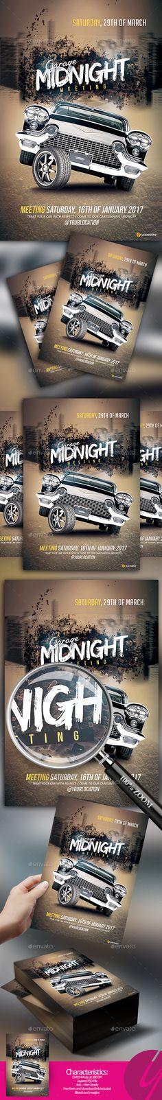 Garage Midnight Meeting — Photoshop PSD #race #hot • Download ➝ https://graphicriver.net/item/garage-midnight-meeting/19190975?ref=pxcr