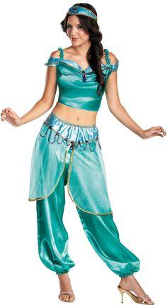 Adult Deluxe Badroulbadour Jasmine Costume - Disney Arabian Nights Costumes