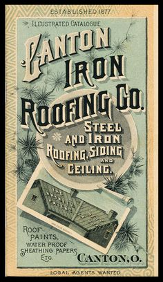 """An """"Over the Top"""" glimpse into America's roofing history, featuring postcards and other #ephemera. #history"""