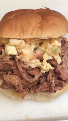 Pulled pork sandwich. Always big portions