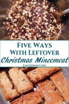What can you do with leftover Christmas mincemeat? Five ideas for using mincemeat in January including a shortbread recipe, storage and freezing tips. Mincemeat Cake Recipe, Mincemeat Cookies, Xmas Food, Christmas Cooking, Christmas Recipes, Christmas Cakes, Christmas Ideas, Christmas Snacks, Holiday Treats