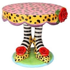 Appletree Sugar High Social by Babs Ceramic Cake Stand Appletree Funky Painted Furniture, Painted Chairs, Unique Furniture, Furniture Online, Furniture Design, Discount Furniture, Nomadic Furniture, Weird Furniture, Painted Tables