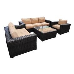 Brayden Studio® Honn 4 Piece Sofa Seating Group with Cushions & Reviews | Wayfair