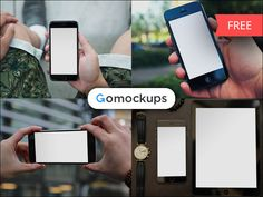 Gomockups.com, customizable free & premium mockups devices