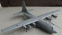 Italeris 1/48 scale Lockheed C-130-J Super Hercules. this is the transport/cargo aircraft in which others are measured.
