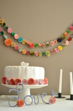 Colorful Paper Flower Garland