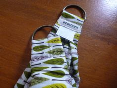 MidWifery Weigh Sling  Organic Cotton  Leaves by ecomum on Etsy, $30.00