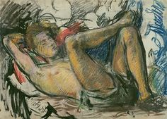 Paul Roche Reclining by Duncan Grant