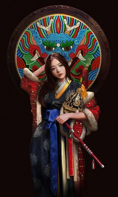 Joseon Dynasty by Choong Yeol Lee Game Character Design, Character Concept, Concept Art, Korean Art, Asian Art, Japanese Warrior, Japanese Drawings, Art Costume, Art Station