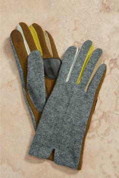 grey mens winter gloves