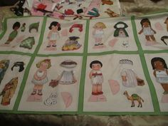 Paper Doll Fabric, New Paper dolls by Sibling Arts Studio 8 Dolls & Outfits # 2 #Siblingartsstudios