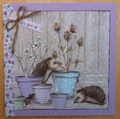 Craftwork Cards: Potting Shed ll Craftwork Cards, Garden Theme, Animal Cards, Cute Cards, Shed, Card Making, Birthday, Crafts, Inspiration