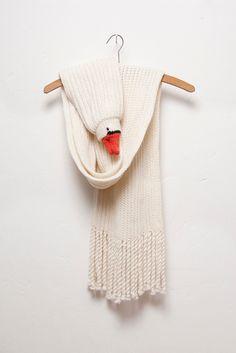Strickschals - Gans Schal (Mit Fransen) - ein Designerstück von Nina-Fuehrer bei DaWanda