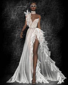 Trendy Fashion Ilustration Gown Drawing Wedding Dresses - Image 11 of 25 Wedding Dress Trends, Designer Wedding Dresses, Bridal Dresses, Wedding Gowns, Prom Dresses, Wedding Dressses, Wedding Dress Sketches, Gown Designer, Dress Design Sketches