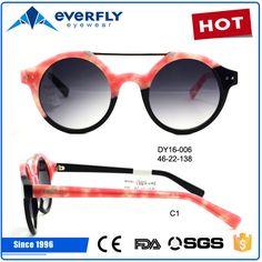 2017 hot sale fashion handmade acetate sunglasses round frames polarized sunglasses