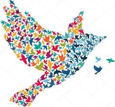 Absztrakt madár — Stock Illusztráció #34713133