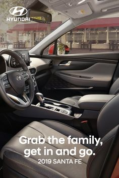 The five-passenger 2019 Santa Fe SUV is a great place for family get-togethers. It offers plenty of room for each and everyone, plus innovative technology makes every trip more relaxing. Hyundai Cars, Hyundai Vehicles, Santa Fe Suv, Compact Suv, Family Adventure, Future Car, Volvo, Cars And Motorcycles, Great Places