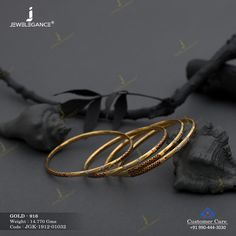 Kadli Bangles gms) - Fancy Jewellery for Women by Jewelegance Gold Chain Design, Gold Bangles Design, Gold Earrings Designs, Gold Jewellery Design, Gold Jewelry, Jewelery, Plain Gold Bangles, Gold Bangles For Women, Ladies Bangles
