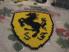 Ferrari logo perler beads by ndbigdi on deviantart
