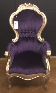 Purple Paisley Perch by CottonwoodInnovation on Etsy, $750.00 -it's a throne!