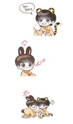 BTS FANART VKOOK KOOKV Jungkook Cute, Bts Bangtan Boy, Bts Chibi, Anime Chibi, Taekook, Bleach Couples, Vkook Fanart, Kpop Couples, Army Love