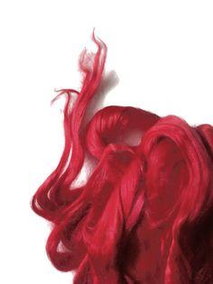 Ramie Roving : Ramie fibers in tones of Passion by DivinityFibers