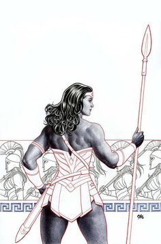Frank Cho variant cover for Wonder Woman #5 (2016).