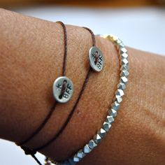 Summer SALE BFF hand stamped bracelets. Best Friends for ever. sterling silver…