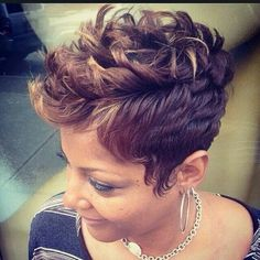 Afro Pixie Hairstyle: Black Women Short Haircuts